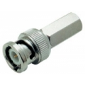 Connector BNC Male, Twist On, Metal