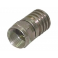 Connector F Male, Hex Crimp RG59, Metal