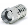 Connector F Male Hex Crimp RG6 Quad Weather Proof