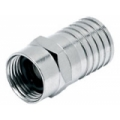 Connector F Male Hex Crimp RG6Q O-Ring