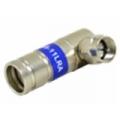 Connector F Male Compression RG11 Right Angled Uni Locking Universal